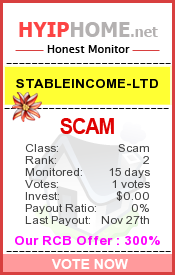 www.hyiphome.net - hyip stableincome ltd